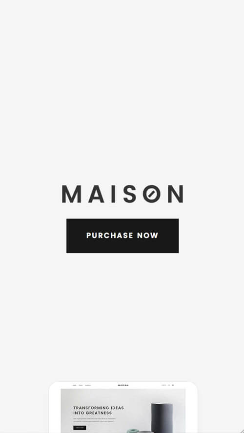 ➀ Maison - Modern Theme for Interior Designers and