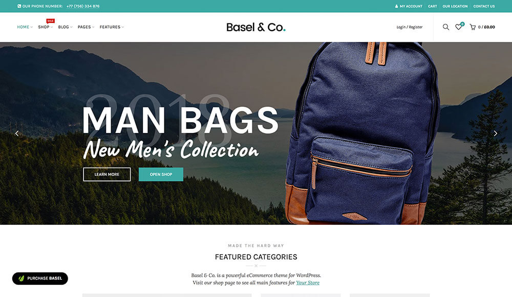 Download Basel – Responsive eCommerce Theme Themes and Plugins Review