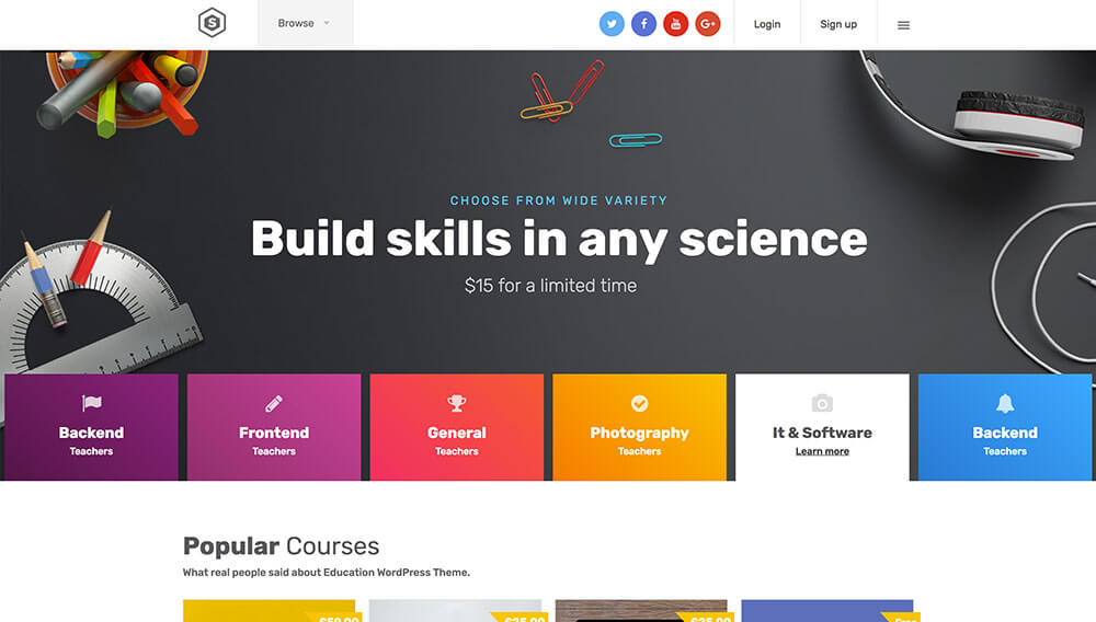 Download Skilled School Education Courses WordPress Theme Themes and Plugins Review