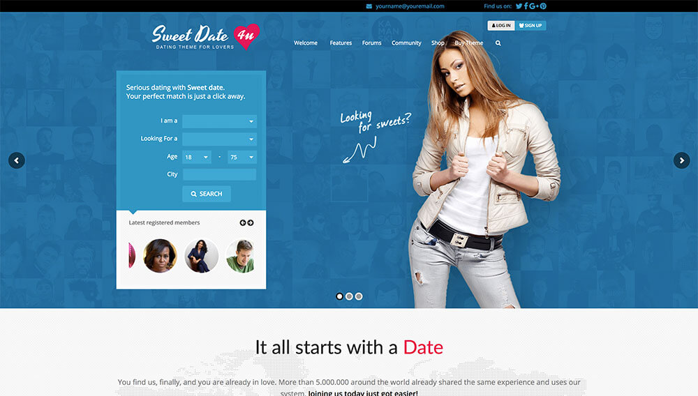 Download Sweet Date – More than a WordPress Dating Theme Themes and Plugins Review